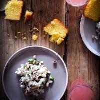 Salade de haricots cornille à la morue | Salada de feijão frade com bacalhau