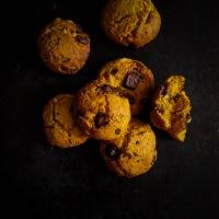 Cookies au potimarron chocolat et caramel