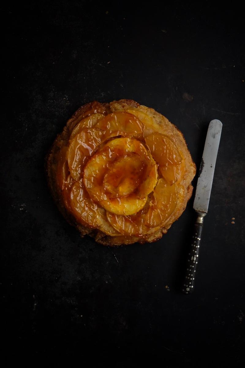 Gâteau renversé pommes caramel