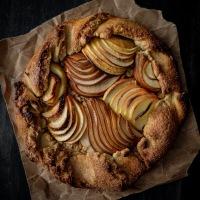 Tarte rustique pommes poires et flocons d'avoine