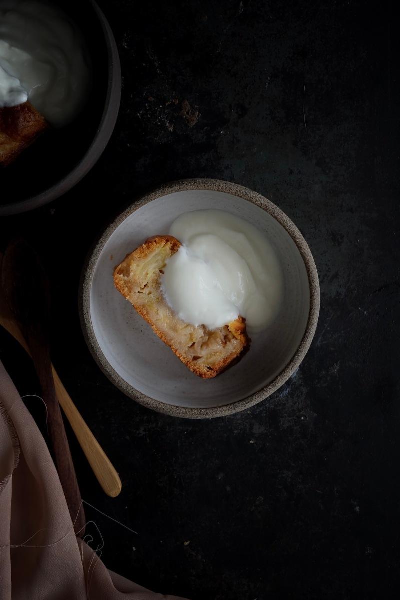 Cake aux pommes à la farine d'épeautre et sarrasin