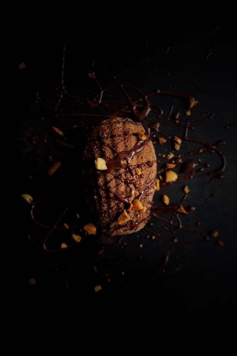 Madeleines au chocolat et beurre de cacahuètes