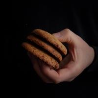 Biscuits à la purée d'amandes et 4 ans de blog